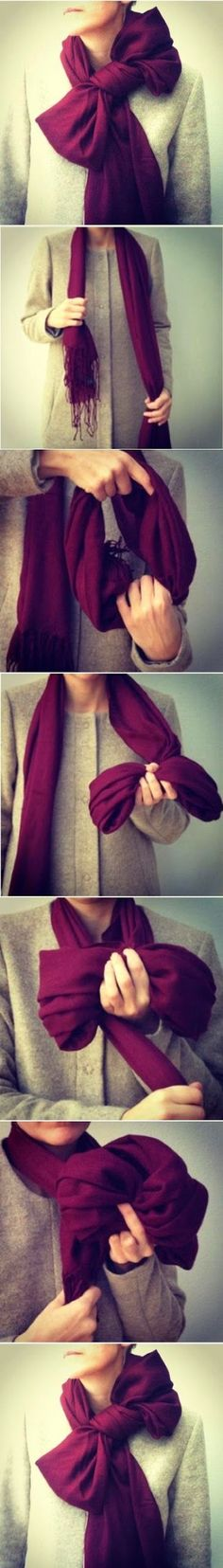 DIY : How to make scarf bow