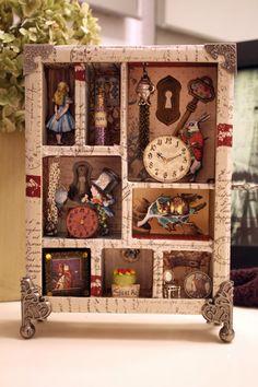 Alice in Wonderland Shadowbox Collage by MaggieMarieCreations, $195.00