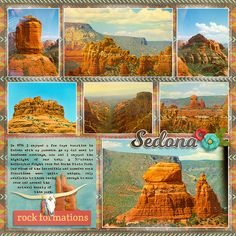Red Rocks Sedona 1996 page 2 - Scrapbook.com