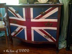 "Taken from ""4 the Love of Wood""   -British Flag Dresser"