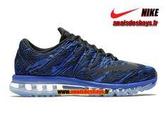 Boutique Officiel Nike Air Max 2016 Print - De Running Homme Bleu coureur/Noir/Noir 818135-400