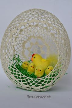 ilta4crochet: Wielkanocne pisanki 2016 Easter Egg Basket, Easter Eggs, Easter Crochet, Crochet Yarn, Diy Plastic Bottle, Easter Egg Crafts, Easter 2020, Christmas Crochet Patterns, Decorative Bowls