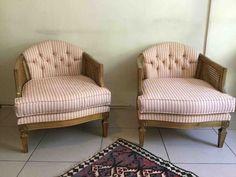 Çok Renkli 2 adet Vintage Çift Kat Hazeranlı Masif Minyon Berjer Modelleri ve Fiyatı – Dekopasaj Love Seat, Armchair, Couch, Mood, Furniture, Home Decor, Sofa Chair, Settee, Sofa