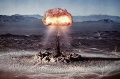 "mudwerks: "" Pulp International - Photo of nuclear test Buster Easy "" Photo of the nuclear test codenamed Easy, part of the series Operation Ranger, detonated at Frenchman Flat, Nevada Test Site,."