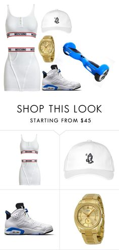 """""""This what my bae gonna wear in the futre"""" by jamalswag ❤ liked on Polyvore featuring Moschino, October's Very Own, NIKE and Movado"""