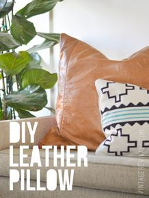 DIY Leather Pillow | How to Make a Pillow Cover | Boho Chic Decor Ideas | Vintage Revivals