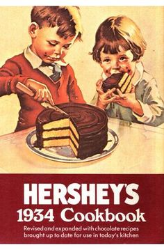Hershey's 1934 cookbook Vintage Recipes, Cookbook Recipes, Hershey Chocolate Cakes, Text File, Cook Books, Original Copy, Vintage Cookbooks, Depression, Pdf