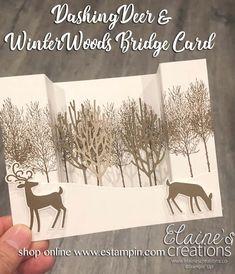 Elaine's Creations: Learn How to Make Bridge Cards! Elaine's Creations: Learn How to Make Bridge Cards! Christmas Cards 2018, Stamped Christmas Cards, Christmas Card Crafts, Homemade Christmas Cards, Xmas Cards, Handmade Christmas, Fancy Fold Cards, Folded Cards, Bridge Card