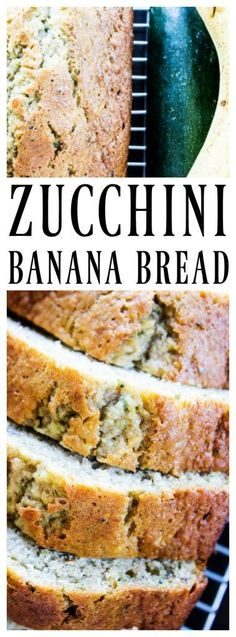 Zucchini Banana Bread has become a weekday essential. Combining two of our family favorite bread recipes into one delicious quick bread. Zucchini Banana Bread, Zucchini Bread Recipes, Banana Bread Recipes, Zuchini Banana Muffins, Mélangeur Kitchenaid, Banana Bread French Toast, Baking Recipes, Dessert Recipes, Paleo Dessert