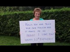 "Happy Birthday to ME! My Birthday Tribute Video - so much love to my husband... Ken. xo September 19th, 2013 ""Kelly Childs Surprise 50th Birthday Party Video - Tribute to Kelly"""