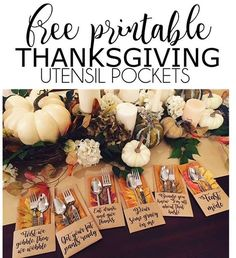 Just posted this free set of utensil pockets...18 different sayings in all :). Easy to assemble and makes for a fun little touch!. Also posted a few recipes, a cocktail, and link to a fun Thanksgiving kids game, and kid table details! Gobble, gobble y'all! Link in profile. • • • #thanksgiving #friendsgiving #thanksgivingdecor #thanksgivingprintables #utensilpockets #gobblegobble http://pearls-handcuffs-happyhour.blogspot.com/2016/11/friendsgiving-printables-food-drinks.html?m=1