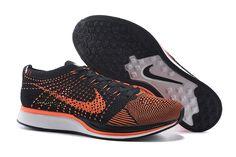 Womens Nike Flyknit Racer Black Orange White