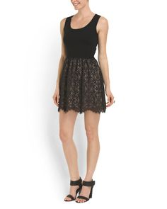 Susana Monaco Fit And Flare Lace Skirt Dress $49.99