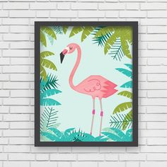 With an effortless modern style, Lucy Darling offers a high-quality Flamingo art print designed to help celebrate the darling moments of a baby's life. • Perfect Nursery Wall Decor! • Great baby showe