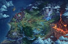 World map by ~gugu-troll on deviantART