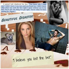Beautiful Disaster book collage