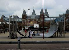 random vert ramp in th middle of Amsterdam Halfpipe Skateboards They See Me Rollin, Teenage Dream, Skate Park, Wakeboarding, Skateboards, Amsterdam, Arch, Surfing, Middle