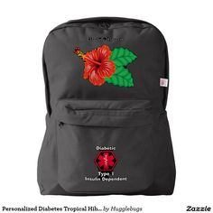 Personalized Diabetes Tropical Hibiscus Medi Alert