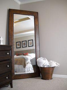 Master Bedroom Makeover - Suburban Spunk! - DIY Show Off ™ - DIY Decorating and Home Improvement Blog *This mirror!