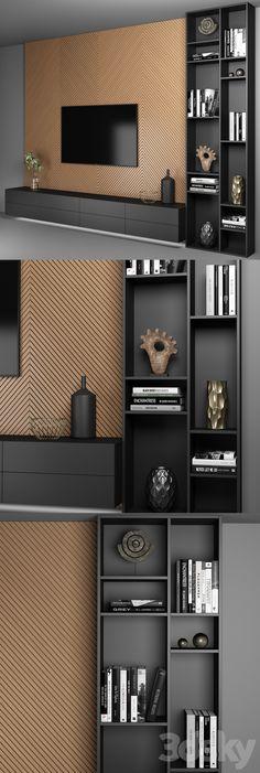 Wall Unit Designs, Living Room Tv Unit Designs, Living Room Wall Units, Living Rooms, Media Room Design, Tv Wall Design, Bedroom Tv Wall, Wall Tv, Tv Wall Shelves