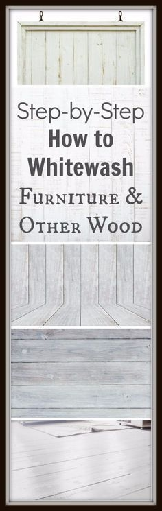 DIY Furniture Refinishing Tips - Whitewashing Furniture - Creative Ways to Redo Furniture With Paint and DIY Project Techniques - Awesome Dressers, Kitchen Cabinets, Tables and Beds - Rustic and Distressed Looks Made Easy With Step by Step Tutorials Paint Furniture, Furniture Projects, Furniture Makeover, Home Furniture, Whitewashing Furniture, Furniture Refinishing, Kitchen Furniture, Furniture Plans, Bedroom Furniture