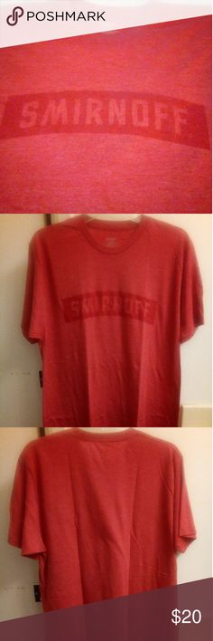 NWOT Smirnoff Men's Model Tee Sz L A brand new without tag Men's size Large T-shirt. This is the men's promotional model shirt for Smirnoff. Received a bunch of these for a promotional gig. Never washed or worn. Super soft material. Smirnoff Shirts Tees - Short Sleeve