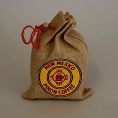 Pinon coffee and/or chile pistachios in small burlap sacks = cute, easy wedding favors