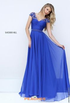 Sherri Hill Chiffon A Line Dress 50211