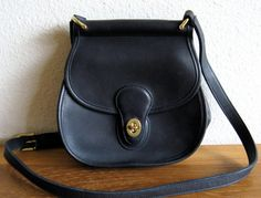 Vintage Coach Navy Blue Leather Cross Body/Shoulder  Purse by MarketHome, $65.00