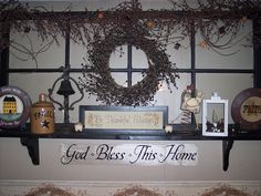 Old Country Decor | Country Decorating- Old Window | Flickr - Photo Sharing!