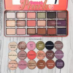 Sweet peach palette dupes with makeup geek eyeshadows Make Up Geek, Eye Make Up, Make Up Palette, Makeup To Buy, Love Makeup, Gorgeous Makeup, Peach Makeup, Makeup Haul, Cheap Makeup