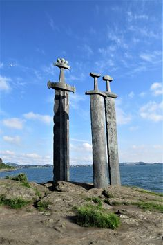 Swords in Rock, near Stavanger Norway Stavanger Norway, Continental Europe, Swords, Travel Style, Vikings, Fantasy, Rock, Heart, Amazing