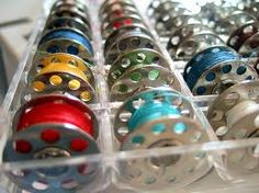 Love it!  Rainbow bobbins... sewing and my favourite colour combination all in one place!