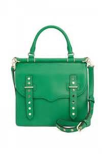 A bold bag color is a way to make a serious statement. Rebecca Minkoff Brett Brief Bag green | Pretty Little Liars