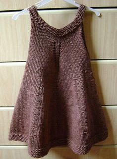 Free knit baby dress pattern