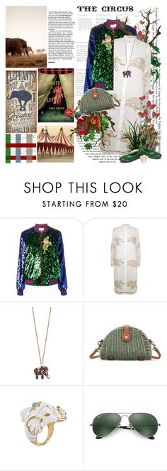 """""""Water for elephants....."""" by purplecherryblossom ❤ liked on Polyvore featuring Gruen, Gucci, Juliet Dunn, Accessorize, PLANT, Kenneth Jay Lane and Ray-Ban"""