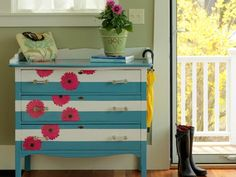 How to Paint and Decoupage a Dresser | DIYNetwork.com