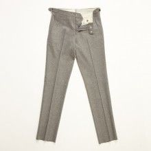 Pearl gray trousers