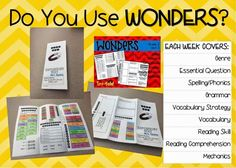 McGraw-Hill WONDERS weekly trifold to help you cover reading and grammar in 2nd grade.