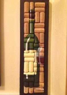 Painting on wine corks