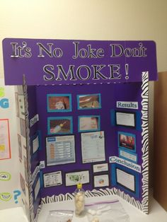 "School project. ""It's no joke don't smoke."" Please don't smoke! If your whole family smokes half of your family will die! Help stop smoking TODAY!"