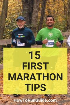 15 First Marathons Tips for newbie marathon runners. Answer all your questions and prepare for your first marathon now. Marathon Tips, First Marathon, Half Marathon Training, Disney Marathon, Running Humor, Running Workouts, Running Tips, Song Workouts, Cheer Workouts