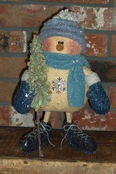 PatternMart.com ::. PatternMart: Flakey's Rag Tree (snowman)