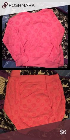 Pink shirt Very cute hot pink shirt has been worn but still in good condition size 4t Shirts & Tops Sweaters