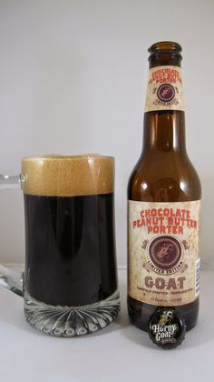 Horny Goat Chocolate Peanut Butter Porter -- Appearance: Dark nearly opaque…