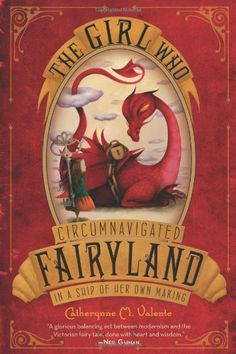 The Girl Who Circumnavigated Fairyland in a Ship of Her Own Making by Catherynne M. Valente.  This is a series.  Not sure if this is the first 10-14