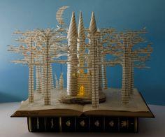 Fairytale Castle Book Sculpture by MalenaValcarcel