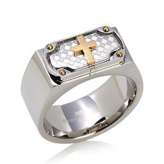 Michael Anthony Jewelry® Men's Cross/Dad Stainless Steel Flip Ring - 7592915 | HSN