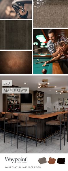 It's Monday—time to get back in the game. Warm up with this incredible game room in Maple Slate. #waypointlivingspaces #kitchencabinets #moodboard #kitchenremodel #kitchendesign #kitcheninspiration #kitchenrenovation #basementremodel #gameroom Bath Cabinets, Maple Cabinets, Kitchen Cabinets, What's Your Style, Other Rooms, Basement Remodeling, Mondays, Cabinet Doors, Kitchen And Bath