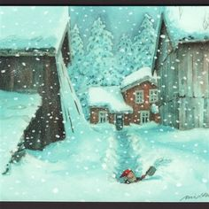Nettbutikk Midthunsamlerne - www.midthunsamlerne.com Holiday Cards, Christmas Cards, Nordic Art, Art Drawings Sketches, Elves, Gnomes, Troll, Colorful Backgrounds, Jigsaw Puzzles